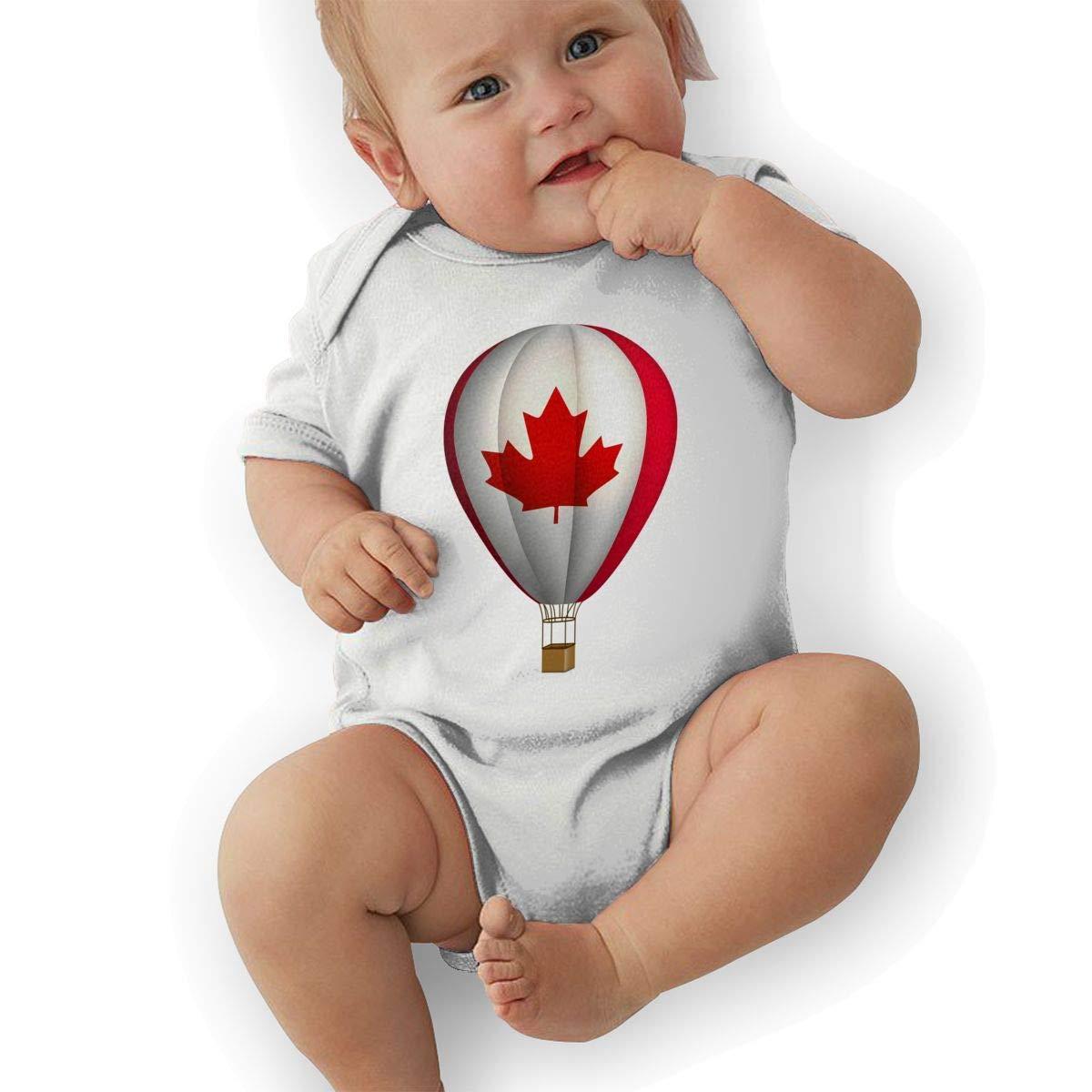 Newborn Baby Boys Bodysuit Short-Sleeve Onesie Hot Air Balloon Print Outfit Autumn Pajamas