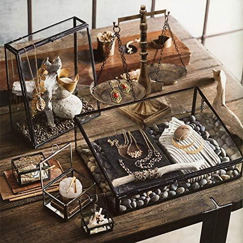 Vintage Style Metal Libra Jewelry Display Tray Cosmetic Organizer Storage , Bronze