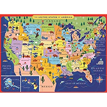 Amazoncom The Learning Journey Lift Learn USA Map Puzzle Toys - Mexico usa map