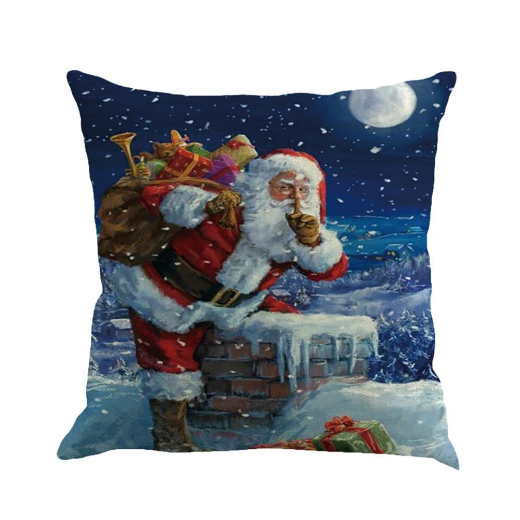 "Pillow case,Rosiest Christmas Printing Dyeing Sofa Bed Home Decor Pillow Cover Cushion Cover Home Decor 45x45 cm/18x18"" (G) by Rosiest"