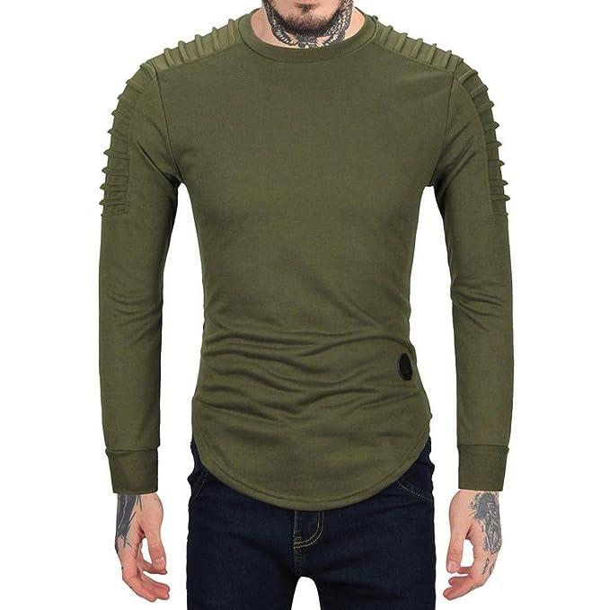 Yesmile Blusa Hombre Camisas Hombre Slim fit Mens Blouse Camisa de Manga Larga para Hombres