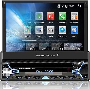2 DIN Tristan Auron BT2D7020A Autoradio Bluetooth Freisprecheinrichtung USB//SD DAB OBD 2 Android 8.1 7 Touchscreen Bildschirm GPS Navi Quad Core OBD 2 Adapter