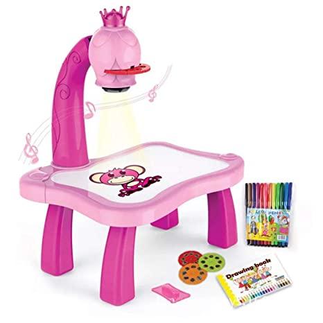 fghdf Niños Proyector Niños Pintando Dibujo Mesa de Juguete con ...