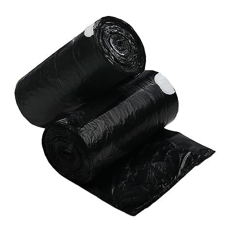 Dynko 50 L Bolsa de Basura, Bolsa de Basura con Cordón Negro ...