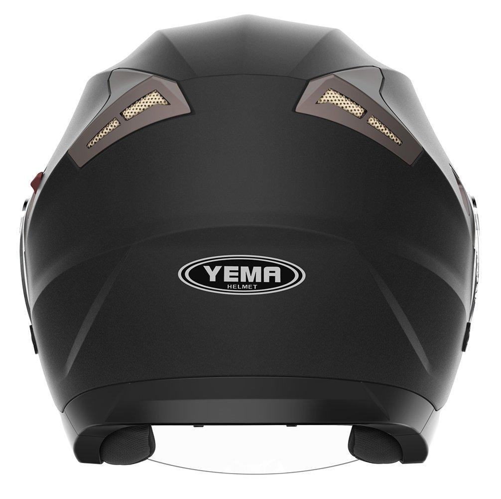 YEMA Jethelme Rollerhelm Sturzhelm Chopper Helm YM-627 Motorradhelm ECE mit Doppelvisier Sonnenblende f/ür Damen Herren Erwachsene-Schwarz Matt-XL