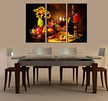 Amazon.com: Red Grape Wine Paintings Modern Giclee Artwork Wall ...