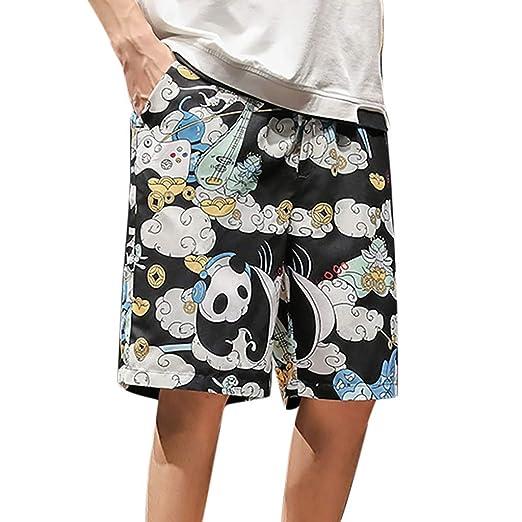 3019feec40 Amazon.com: JULYKI Mens Beach Trunks Quick Dry Printed Swim Board Shorts  with Pockets Swimwear Big & Tall Swim Pants Bathing Suits: Clothing