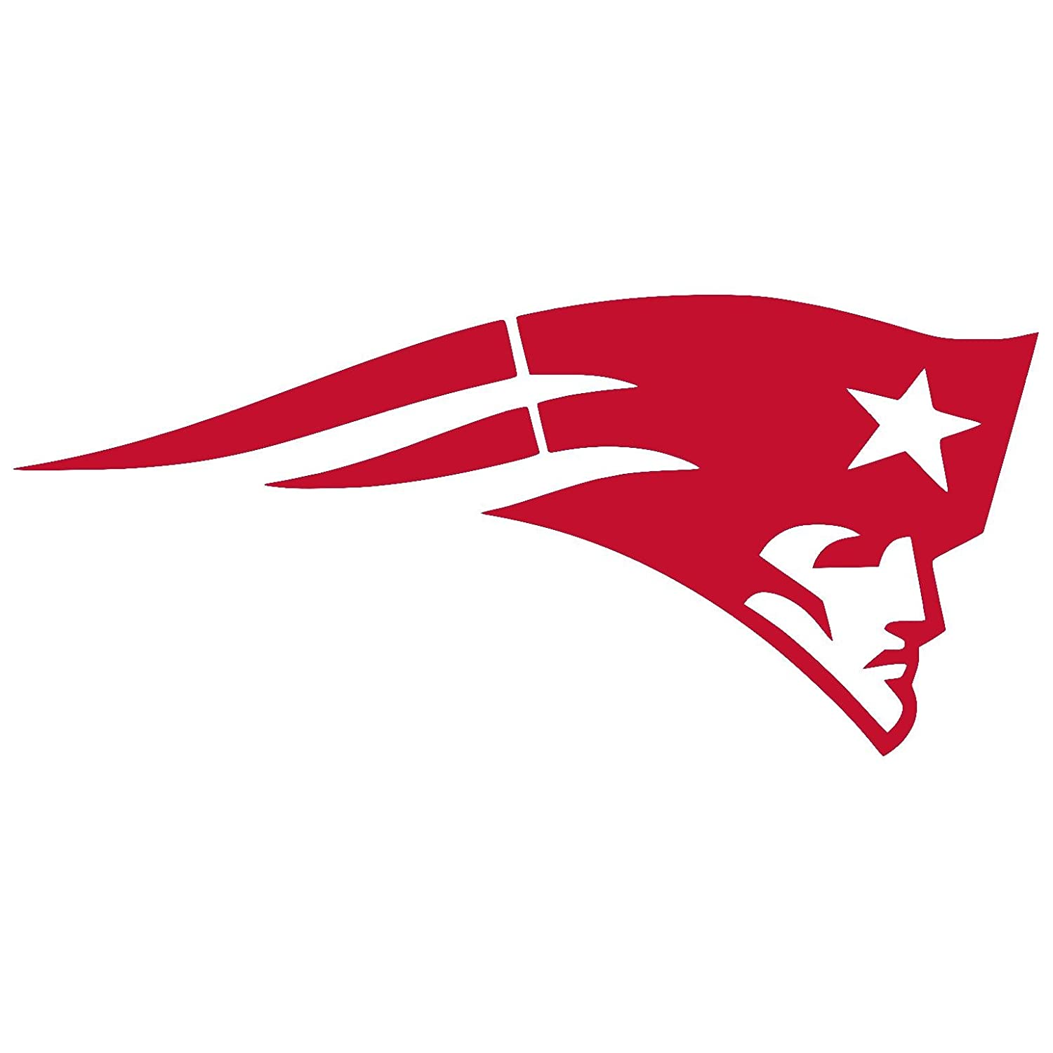 NEW ENGLAND PATRIOTS vinyl Sticker Decal 2 x 0.9, Real Red