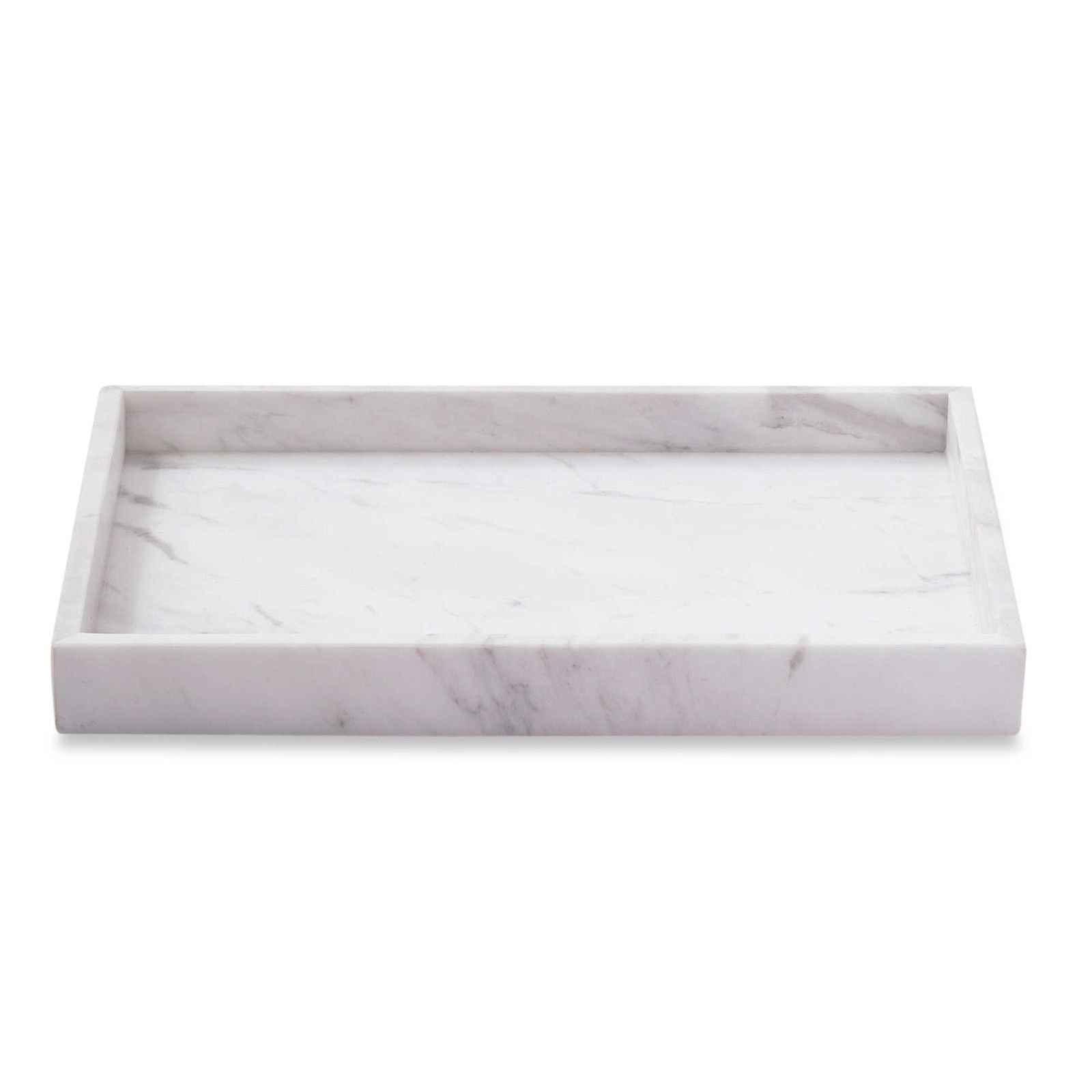 Asher Amada Genuine White Marble Vanity Tray Guest Towels Perfume Bathroom Chic Spa Decor by Asher Amada
