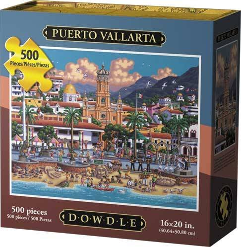 Dowdle Folk Art Puerto Vallarta Jigsaw Puzzle (500 Piece)