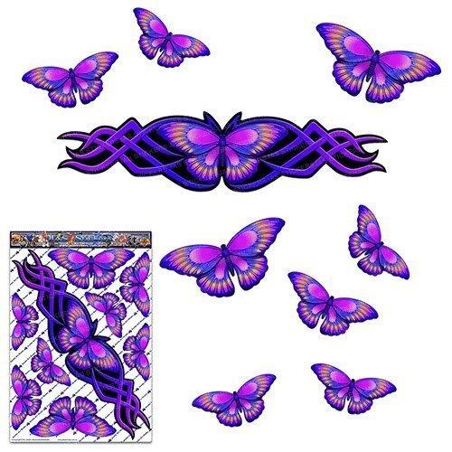 Etiquetas engomadas grandes del animal púrpura de la mariposa para las caravanas del coche Camiones y barcos ST00021PL_LGE - Etiquetas engomadas de JAS