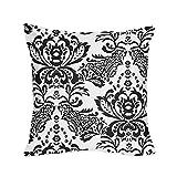 Sweet JoJo Designs Black and White Sophia Damask Throw Pillow