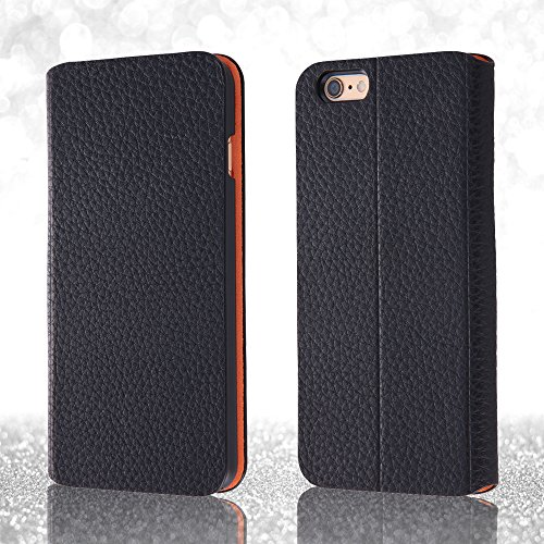 Book Cover Type Leather Jacket Case for iPhone 6 Plus (Black)
