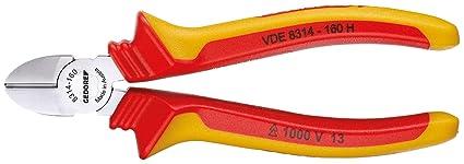 Gedore VDE 8314-160 H - Alicate de corte diagonal VDE con aislamiento de cubierta