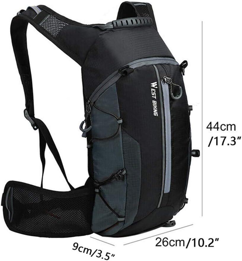 Noir 10L L/éger Sac /À Dos V/élo Respirant Sac /À Dos /Étanche Sec Sacs Pliable Running Unisexe Daypacks pour V/élo Randonn/ée Camping