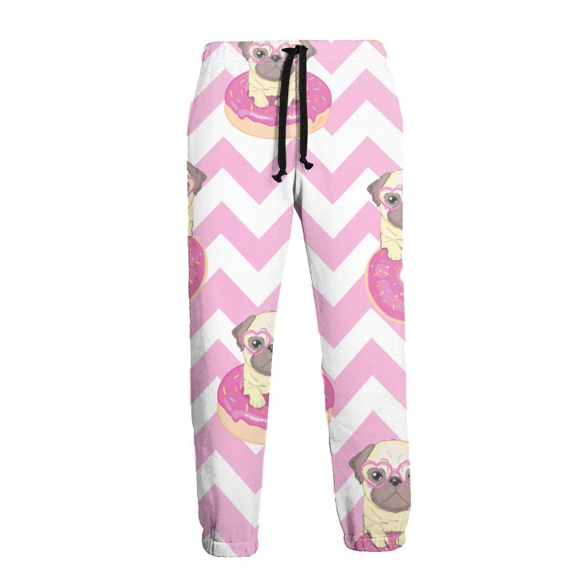 Patrón Sin Costuras Rosa con Pantalones de Chándal Divertidos Pug ...