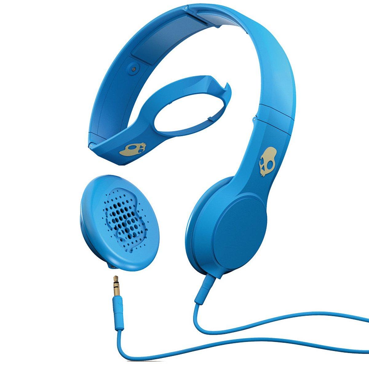 Amazon.com: Skullcandy Cassette Headphones w/ Mic1 Athletic Blue ...