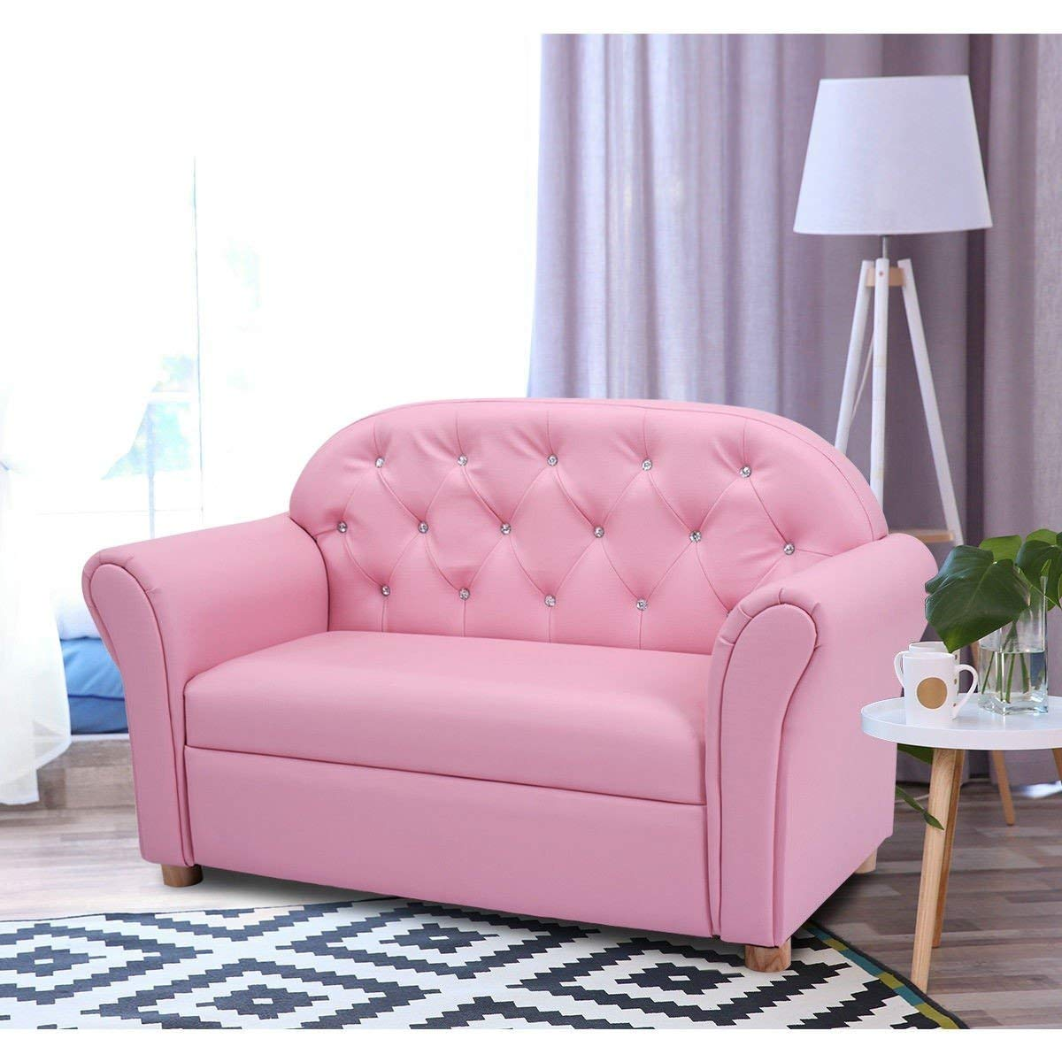 Kids Princess Armrest Lounge Couch Chair Sofa Children Toddler Gift Flip Open Loveseat Armchair Bed Sleeper Room Furniture BeUniqueToday