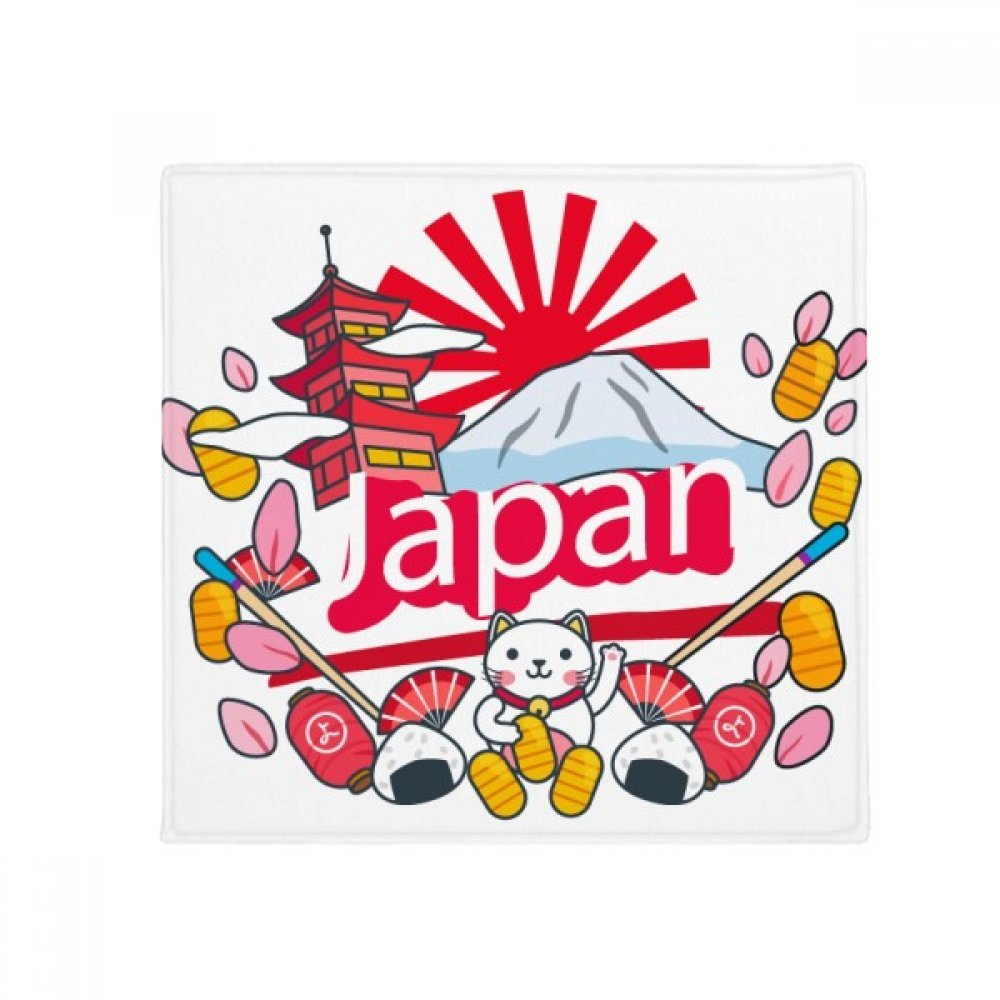 DIYthinker Hand-Decorated Japan Pattern Anti-Slip Floor Pet Mat Square Home Kitchen Door 80Cm Gift