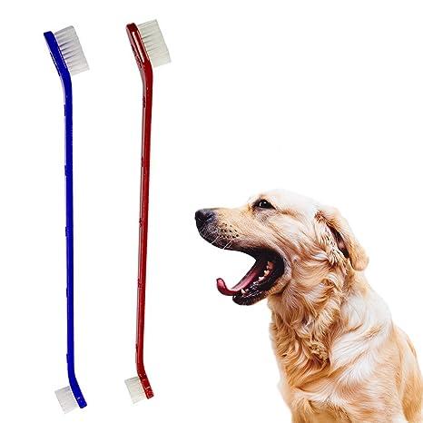 Hengbaixin - Juego de 5 cepillos de Dientes para Mascotas, Gatos, Perros, etc