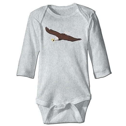 80f2ef1409e KIDDDDS Infant American Bald Eagle Long Sleeve Romper Onesie Jumpsuit  Bodysuit