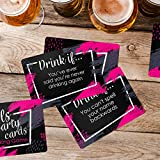 Girls Party Drinking Games Cards - 52 Funny