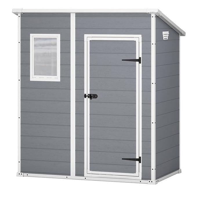 Keter - Caseta de jardín exterior Manor Pent, Color gris: Amazon ...