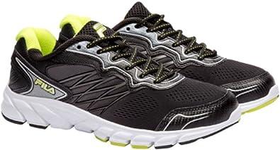 Zapatillas de deporte para hombre Fila Indus Running Athletic Shoes Coolmax, Verde (Negro / Verde), 10,5 D(M) US: Amazon.es: Zapatos y complementos