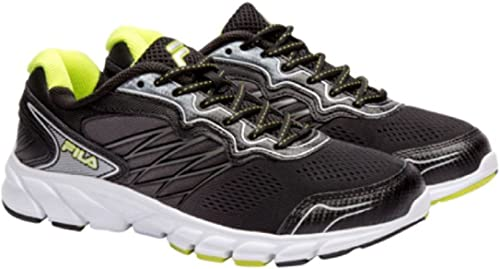 Zapatillas de deporte para hombre Fila Indus Running Athletic Shoes Coolmax, Verde (Negro / Verde), 10,5 D(M) US: Amazon.es: Zapatos y complementos
