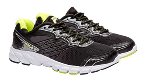 ed1d853305d4 Fila Mens INDUS Running Athletic Shoes Coolmax Fabric Sneakers (10)  Black Green  Buy Online at Low Prices in India - Amazon.in