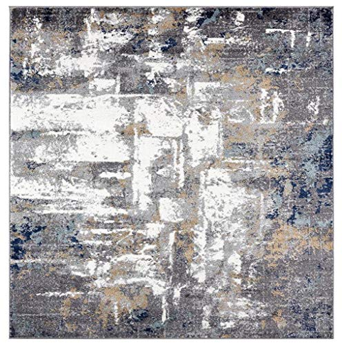 Luxe Weavers Abstract Gray 5×7 Area Rug