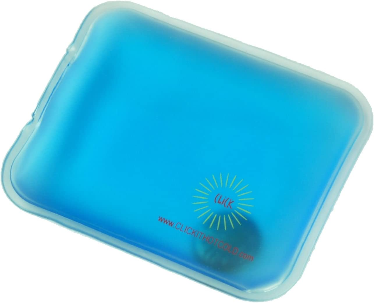 Click It Hot/Cold Reusable Gel Heating Pad (Pocket (Hand Warmer), Blue)