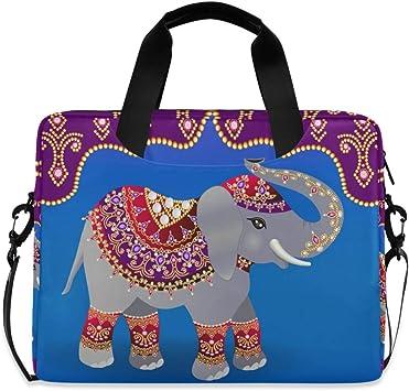 Watercolor Elephant Laptop Bag,Shoulder Case Laptop Sleeve Bag Briefcase