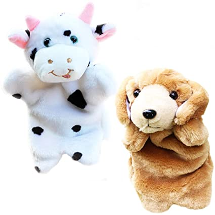 Amazon Com Riy Plush Farm Animals Toys Hand Puppets Kids