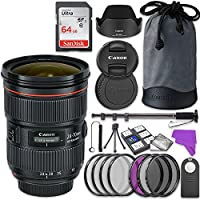 Canon EF 24-70mm f/2.8L II USM Lens Bundle with Accessory Kit (17 items)