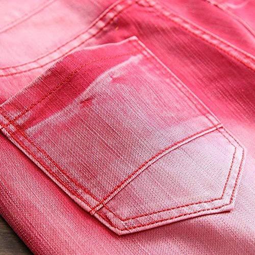 Con Chern Stretch Giovane Jeans Slim Di Fashion Pantaloni Saoye Rotti Retrò Fori Uomo Da Strappati Cowboy Fit Denim Rot W1vWnaPq