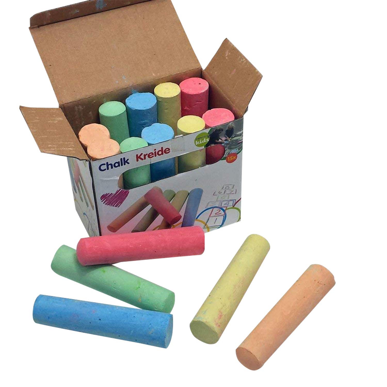 WOW 15 x Malkreide Box Kreide Spielzeug Straßenkreide Strassenmalkreide