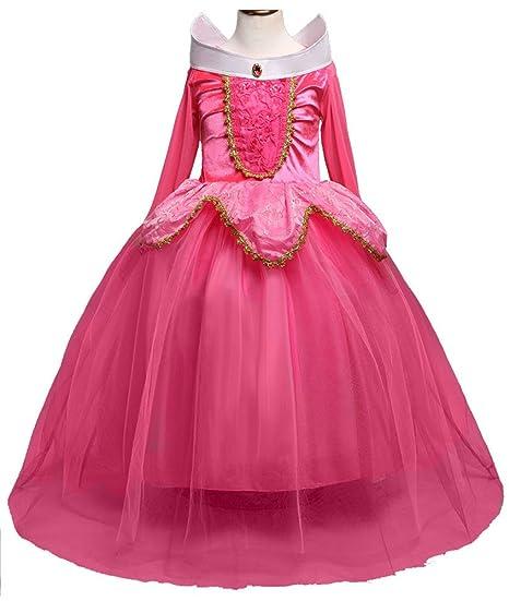 bb1abcf046e22 (ホーマイ)HOOMAI プリンセス ドレス ワンピース 女の子 オーロラ姫 風 お姫様 コスプレ 衣装 子供 ハロウィン