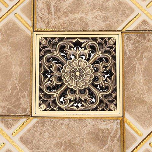 Floor drain/full copper antiquity and odorization bathrooms,20123 bronze U type