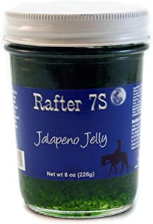 product image for Rafter 7S Jalapeno 8 oz Jelly - Gluten Free - No Preservatives - No Corn Syrup - Made with Fresh Nebraska Fruit