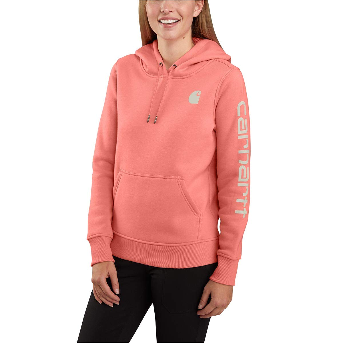 Carhartt Women's Regular Clarksburg Sleeve Logo Hooded Sweatshirt