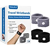 Travel Wristbands,Travel Motion Sickness Relief Wrist Band,Natural Nausea Relief,4-Pair