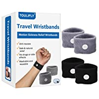 Travel Wristbands,Travel Motion Sickness Relief Wrist Band,Natural Nausea Relief...
