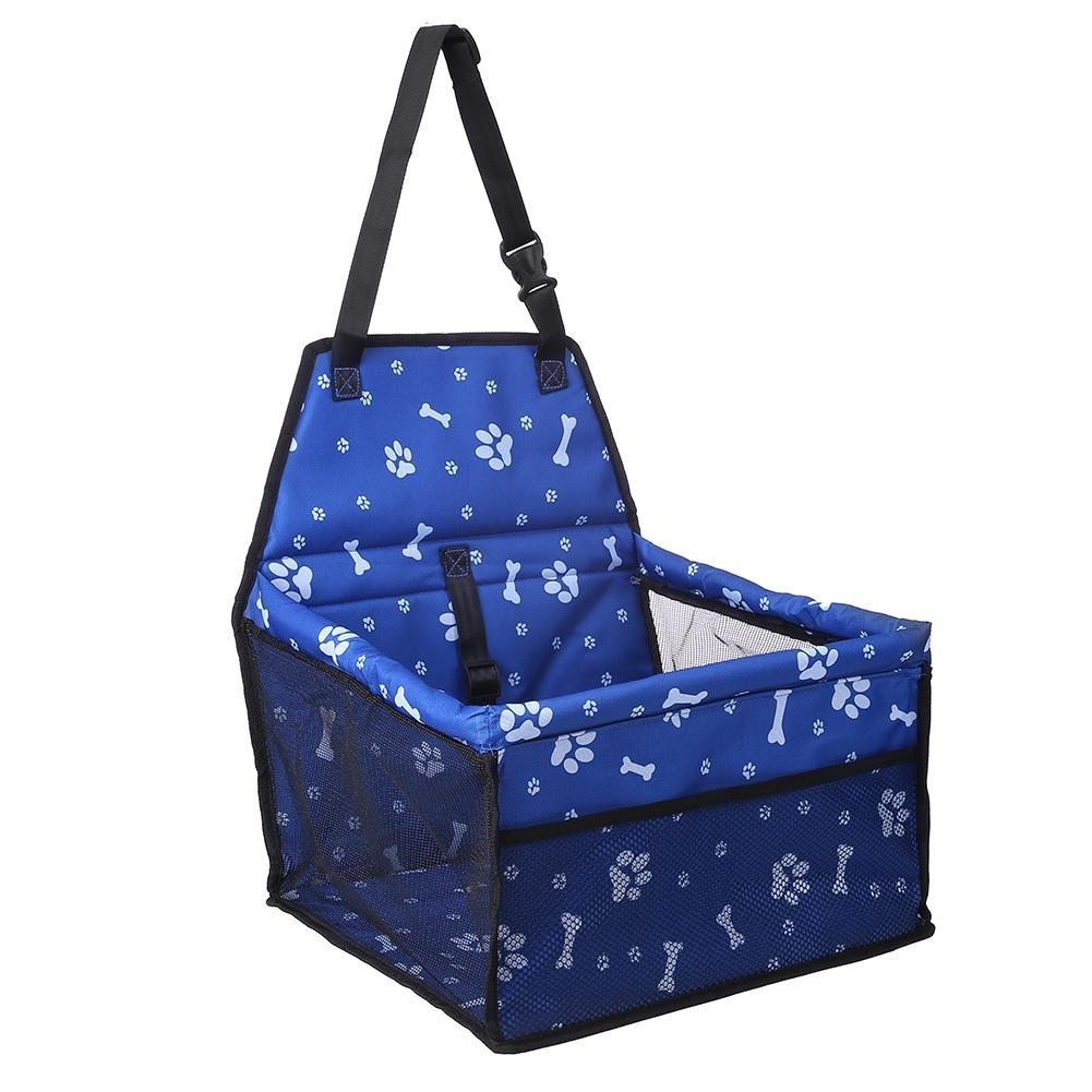 Everpert Footprint Print Anti Slip Waterproof Folding Dog Carriers Pet Car Seat Mats