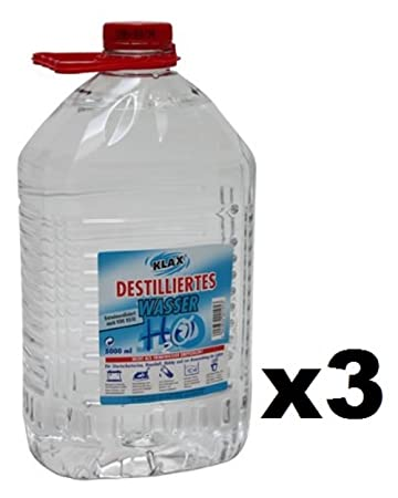 15 L Destilliertes Wasser In 3 Kanister Zu Je 5 Liter Amazon De Auto