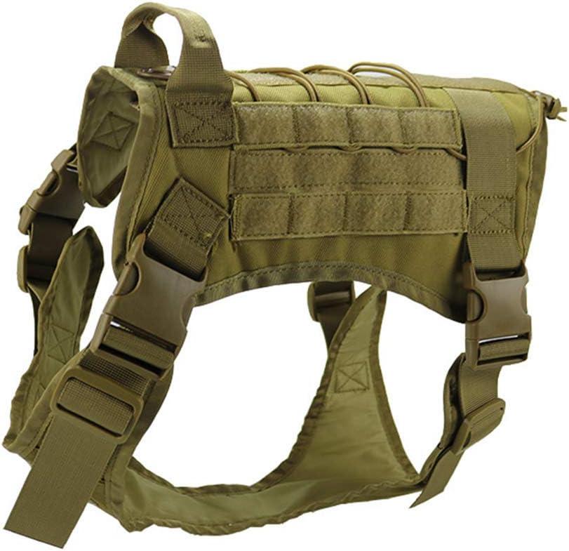 Chnrong Arnés táctico para entrenamiento de perros y perros de trabajo – Arnés de perro – Gran Pastor Alemán, Pitbull, Rottweiler Army Green L