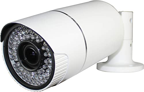 Motorized 1080p cctv TVI bullet camera with 2.8-12mm zoom lens, Full HD Waterproof Surveillance Security Outdoor,72 IR LEDs,Metal White Housing Case