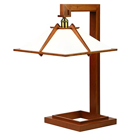 Amazon Com Frank Lloyd Wright Taliesin 1 Table Lamp Cherry Wood