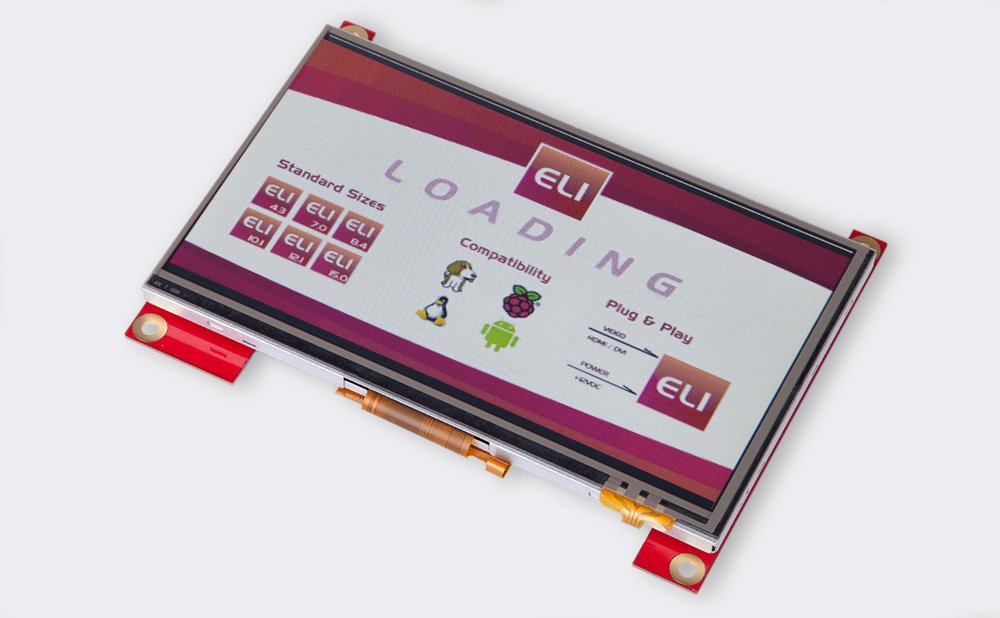 ELI 7.0'' HDMI 4 WR Touch screen 800x480 WVGA LCD - Plug and Play