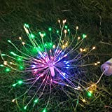 E-lip Fairy Lights, 2PCS Battery Power Starburst Light, 120 LEDS Hanging Led Lights with Remote Control for Fairy Garden, Patio, Room, Wedding, Party, Festival (2 PCS) (Multicolor)